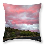 Pink Clouds Over Arizona Throw Pillow