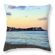 Pink Clouds Over Sicily Throw Pillow