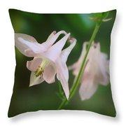 Pink Columbine Throw Pillow
