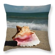 Pink Conch  Throw Pillow