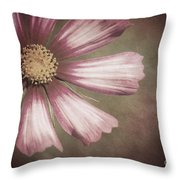 Pink Cosmos Painting Throw Pillow