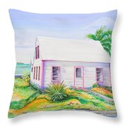 Pink Cottage Throw Pillow