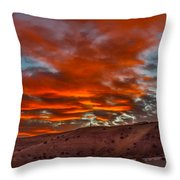 Pink Cotton Candy Sunrise Throw Pillow