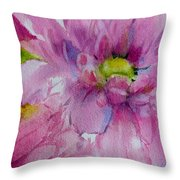 Pink Daisy Throw Pillow