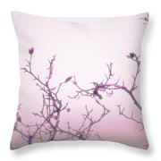 Pink Dawn Throw Pillow by Ann Powell