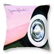 Pink Desoto Fireflite Throw Pillow