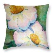 Pink Disc Flowers Throw Pillow