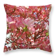 Pink Dogwood Flowering Tree Art Prints Canvas Baslee Troutman Throw Pillow