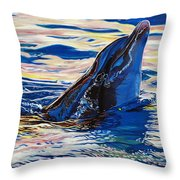 Pink Dolphin Throw Pillow