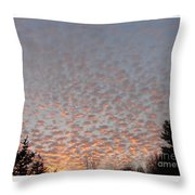 Pink Dotted Sky Throw Pillow