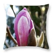 Pink Early Bloom  Throw Pillow