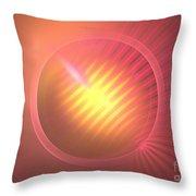 Pink Eclipse Throw Pillow