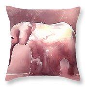 Pink Elephant Throw Pillow