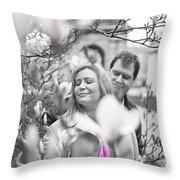 Pink Enchantment  Throw Pillow