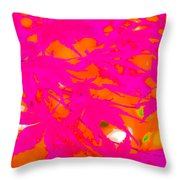 Pink Equalized Throw Pillow