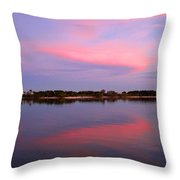 Pink Evening Throw Pillow