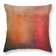 Pink Falls Throw Pillow