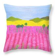 Pink Field Throw Pillow