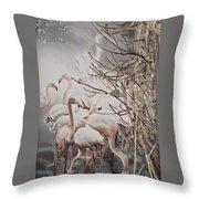 Pink Flamingo Throw Pillow