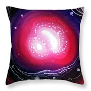 Pink Flash Of Energy. Sweet Dreams. Astral Vision Throw Pillow