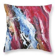 Pink Flow Abstract Throw Pillow