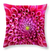 Pink Flower Close Up Throw Pillow