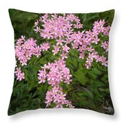 Pink Flower Cross Throw Pillow