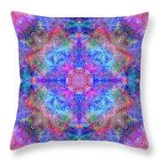 Pink Flower Of Life Mandala Throw Pillow