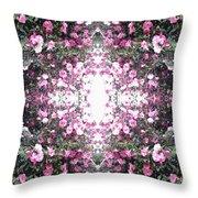 Pink Flower Sky Window Throw Pillow