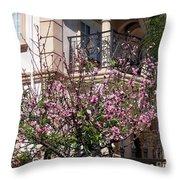 Pink Flower Tree. Elegant Throw Pillow