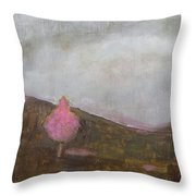 Pink Flowering Tree Throw Pillow