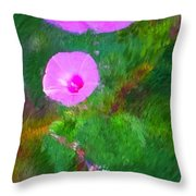 Pink Flowers 102310 Throw Pillow