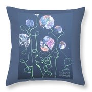 Pink Flowers - 4 Throw Pillow