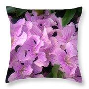 Pink Flowers. 6-22-17 Throw Pillow