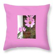 Pink Flowers Of Summer Throw Pillow