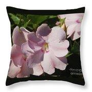 Pink Flowers P79 Throw Pillow