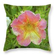 Pink Flowers P80 Throw Pillow