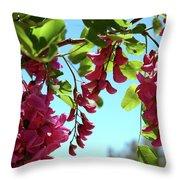 Pink Flowers Virginia City Nv Throw Pillow