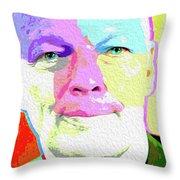 Pink Floyd 3773,gilmour By Nicholas Nixo Efthimiou Throw Pillow