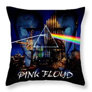 Pink Floyd Montage Throw Pillow