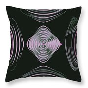 Pink Flower Scapeships Throw Pillow