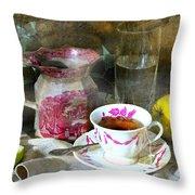 Pink For Tea Throw Pillow