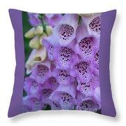 Pink Foxglove 3 Throw Pillow