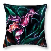 Pink Fuschia Orchid. Dance Of The Nature Throw Pillow