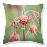 Pink Fuzz 2 Throw Pillow