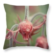 Pink Fuzz 7 Throw Pillow