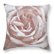 Pink Garden Rose Throw Pillow