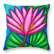 Pink Gem 3 Throw Pillow