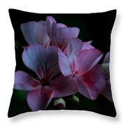 Pink Geranium Throw Pillow