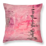 Pink Gray Abstract Throw Pillow